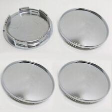 4x 68mm Universal Chrome Silver Car Wheel Center Hub Cap Covers Set No Logo