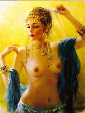 Beautiful Girl Nude Women  ' modern new unposted postcard by Razumov