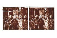INDO-CHINE Indochine Vietnam ? Masques Plaque de verre stéréo Vintage ca 1920