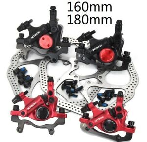 Bike Hydraulic Disc Brakes Calipers Mechanical pull 160/180mm rotors Front Rear
