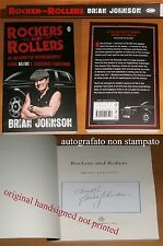 AUTOGRAFO Brian Johnson AC/DC Rockers and Rollers HAND SIGNED BOOK AUTOGRAPH