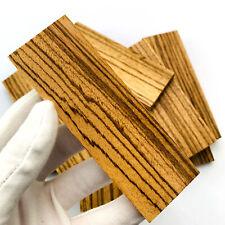 2pcs DIY Knife Handle Material Zebra Wood Spoon Making Materials Home Handicraft