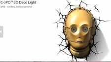 C-3PO 3D Deco Wall Light (Star Wars) Light FX Brand New