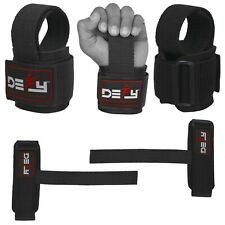 DEFY SPORTS™ New Weight Lifting Gym Power Straps Grip Gloves Wrist Support Black