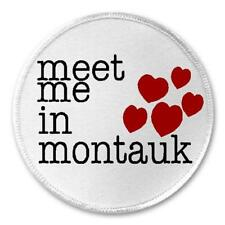 """Meet Me In Montauk - 3"""" Sew / Iron On Patch Eternal Sunshine Movie Gift Quote"""