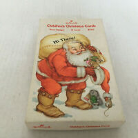 vintage empty box Hallmark Children's Christmas cards Santa graphics on box