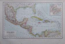 Karte aus 1889 - Central Amerika - alte Landkarte old map