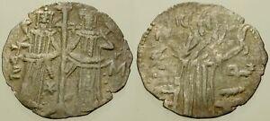061. Medieval Silver Coin. IVAN ALEKSANDER. AR Grosh. Christ / Ivan & Michael