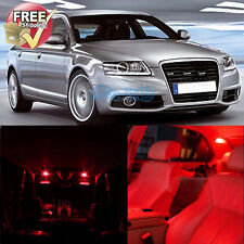 Red Dome Map Interior LED Lights Package 21Pcs Fit Audi A6 S6 C5 1998-2004