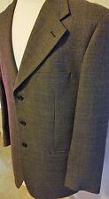 Chiavari Men's Jacket Suit Coat Tweed Merino Wool Italy Cessilatrona Size 40L