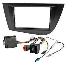 2DIN Radioblende Blende CANBUS Adapter Set für SEAT Leon 1P 2004-2009 schwarz