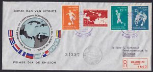 1957 CENTRAL AMERICAN AND CARIBBEAN FOOTBALL CHAMPIONSHIP REGISTERED COVER MI.60