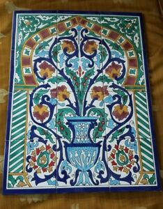 Hand Painted Ceramic Tile Mural-Disrupted shipping