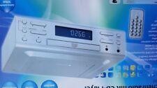 Unterbauradio Küchenradio CD Player CD-Küchenunterbauradio Silber Fernbedienung.