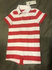 Ralph Lauren Red White Striped Jumper 12m New W Tags