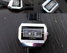 "Vintage Mechanical Digital ""Cupillard Riéme"" Men's French Wrist Watch Rare"