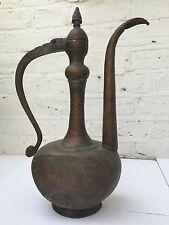 Antique Islamic Persian Copper Ewer Pitcher Jug Coffee Pot