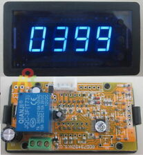 Blue 12V 4 digital LED Counter Meter Plus Minus Up Down with Relay ON/OFF Output