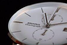 BAUHAUS chronograph watch WHITE,limited edition,brand new  + box! SALE!