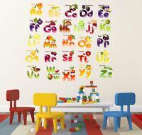 Früchte Alphabete Wandaufkleber Wandbild Diy Zimmer Wanddekoration Aufkleber