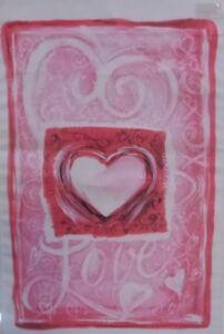 "Hearts Outdoor Garden Flag by Evergreen 12"" x 18"", #4456 Love"