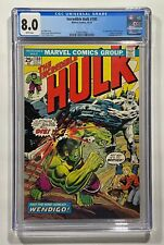 Incredible Hulk #180 CGC 8.0 1st Cameo App Wolverine White Pages 1974 Marvel