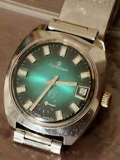 Orologio CORTEBERT anni 60 meccanico carica manuale verde smeraldo watch...