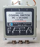 HP Coaxial Switch 33311C/ DC to 26.5GHz/ 24VDC DRIVE/ Max RF power 1W CW