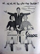 publicité    de presse VESPA avec Gilbert Becaud    en 1957  ref. 26404