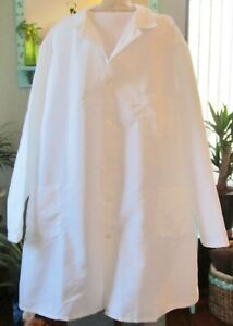 """Best Medical Men L/S Lab Coat 3 Pockets & Side Vents 42"""" Length White Size 4X"""