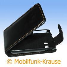 Flip Case étui pochette pour téléphone portable sac housse pour samsung gt-s5369/s5369 (Noir)