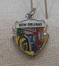 Vintage REU Sterling/Enamel New Orleans, Louisiana French Quarter Bracelet Charm