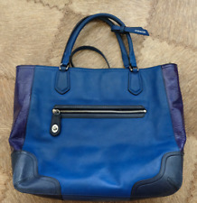 COACH Brilliant Blue Leather Large Tote Bag