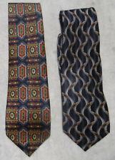 Lot de 2 Cravates 100% soie Cardin, Balmain Made in France comme Neuves !