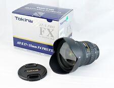 Tokina AT-X 17-35 mm Wide Angle Lens F4 Pro FX Nikon AF Lens with UV Filter