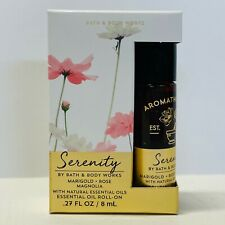 Bath & Body Works SERENITY Essential Oil Roll On Marigold Rose Magnolia 0.27 oz
