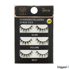 Black 3 Pairs False Eyelashes Long Thick Natural Fake Eye Lashes 3D Make Up