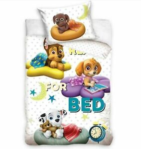Baby Bedding Set Paw Patrol Mighty Pups Crib Two-Sided Pillowcase Duvet Cover