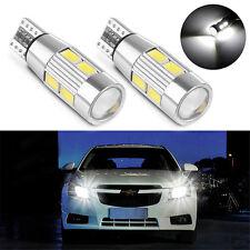 2X White T10 10 SMD 194 W5W 5630 LED CANBUS ERROR FREE Car Side Wedge Light Bulb