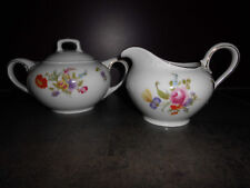 Rosenthal  Balmoral 1 Zuckerdose & 1 Milchkanne bunte Blume