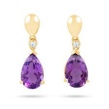 Pendientes de joyería con gemas en Oro amarillo de 18 quilates diamante