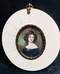 Miniatur Portrait Nanette R.Kaula  9,5 x 8,5  cm 210/19/ 26