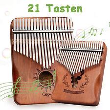 Kalimba Daumenklavier 21 Tasten Marimbaphone Mahagoni Holz Finger Thumb Piano