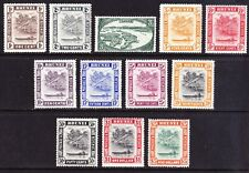 Brunei 1947 short set to $5, very fine mint cv £70