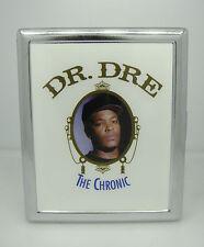 CIGARETTE CASE DR DRE THE CHRONIC ALBUM COVER RAP N.W.A. SILVER METAL WALLET
