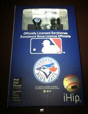 NIP MLB Hockey iHip Headset Headphones Earphones Ear Buds Toronto Blue Jays