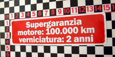 1980's Alfa Romeo Etiqueta de garantía Gtv Alfasud Sprint Alfetta 33 90 75 Giulietta
