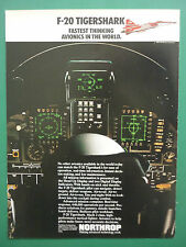 6/1983 PUB NORTHROP F-20 TIGERSHARK US AIR FORCE USAF AVIONICS COCKPIT AD