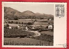 CPSM Ocana postcard Vue sur Ascarat Ecusson SAINT JEAN PIED DE PORT 64 A