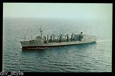 USS Milwaukee  AOR-2 postcard  US Navy replenishment oiler warship [card1]